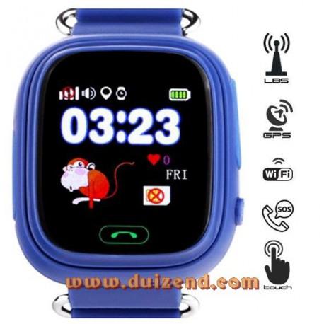 Gps horloge Donker Blauw Touchscreen Gps Wifi +  configuratie + incl 10 euro KPN + incl 8,60 aangetekende verzendkosten !