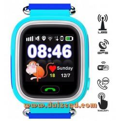 Gps horloge Blauw Touchscreen Gps Wifi + configuratie + incl Lebara Simkaart + incl verzendkosten !
