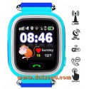 Touch Gps horloge telefoon tracer kind - Blauw
