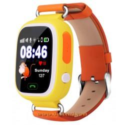 Gps horloge Geel Touchscreen Gps Wifi + configuratie + incl Lebara Simkaart + incl verzendkosten !